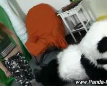 Fetish Tiener Onanisme Met Plaything Panda