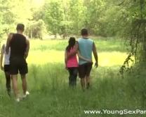 Having Outdoor Orgy