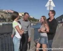 Youthful Fuckfest Soirees - Teenage Tarts Romped Head To Head